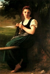 The Knitting Girl (1869)