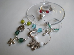 Wine Glass Charm I